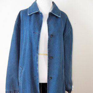 Vintage Brandon Thomas Long Denim Coat, Large